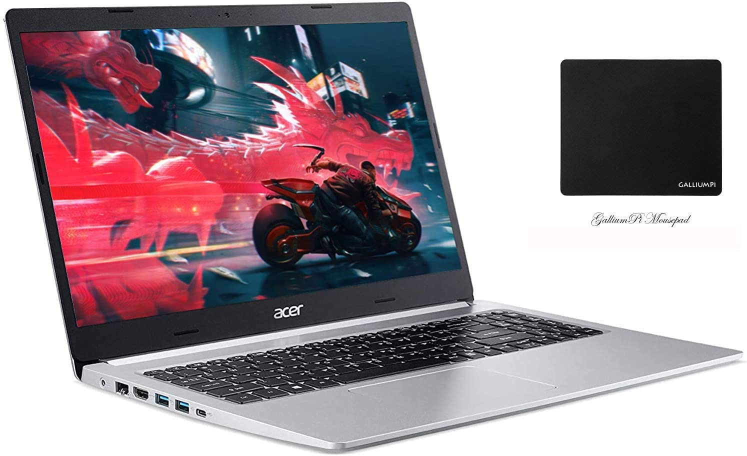 "Newest Acer Aspire 5 15.6"" FHD Laptop, 10th Gen Intel Core i3-1005G1, 8GB DDR4 RAM, 128GB PCIe SSD, WiFi 6, Backlit Keyboard, Windows 10 with GalliumPi Accessories"