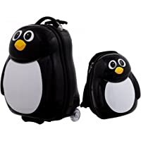 """Costway 13"""" 16"""" 2PC Kids Luggage Set Suitcase Backpack School Travel Cabin Trolley ABS"""