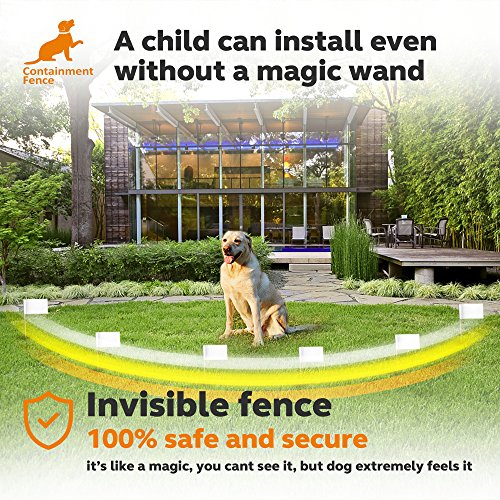 Containment-Fence-Invisible-Dog-Fence-Latest-Version-Safe-Easy-In-Ground-Wired-Installation-Hidden-Electric-Dog-Fence-Waterproof-Rechargeable-Collar-Fully-Adjustable