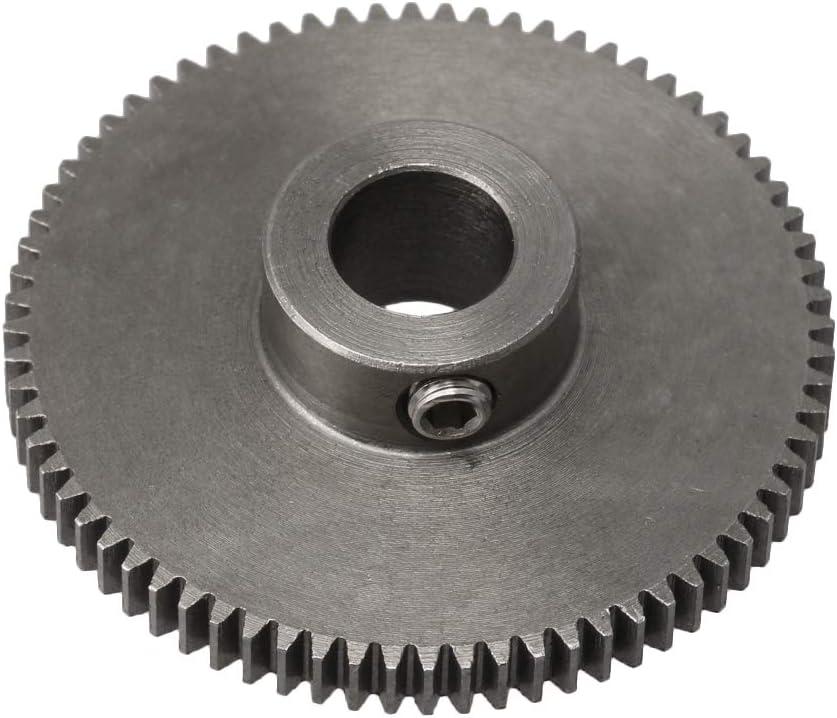 BQLZR 37x10x8MM Black 72 Teeth Motor Metal 45# Steel Gear Wheel 0.5 Modulus Top Screws 8mm Hole Diameter