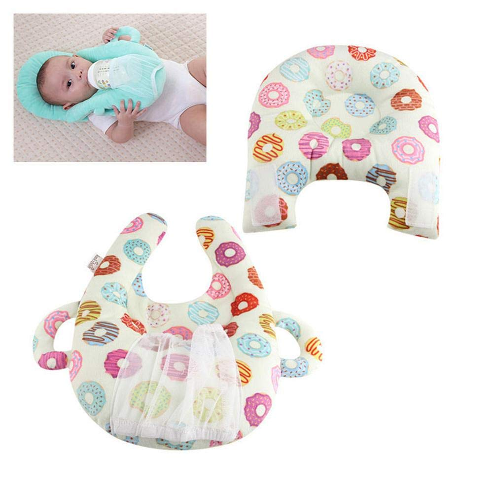 Baby Portable Detachable Feeding Pillows, Womdee Nursing Pillow and Positioner Infant Anti Roll and Anti Overflow Milk Self-Feeding Support Baby Cushion Pillow for Baby Fox