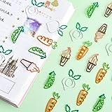 クリップ 20枚 色の かわいいニンジンのしおりのペーパークリップの文房具の装飾の学用品学生用品