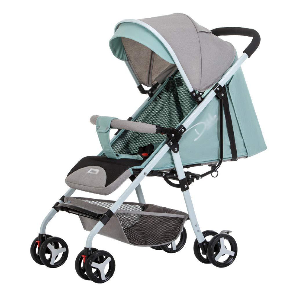 WCP CZZ Cochecito, Ultraligero, Puede Sentarse reclinable, Paraguas de bebé, Amortiguador Plegable, Cochecito de bebé recién Nacido,A,Carro