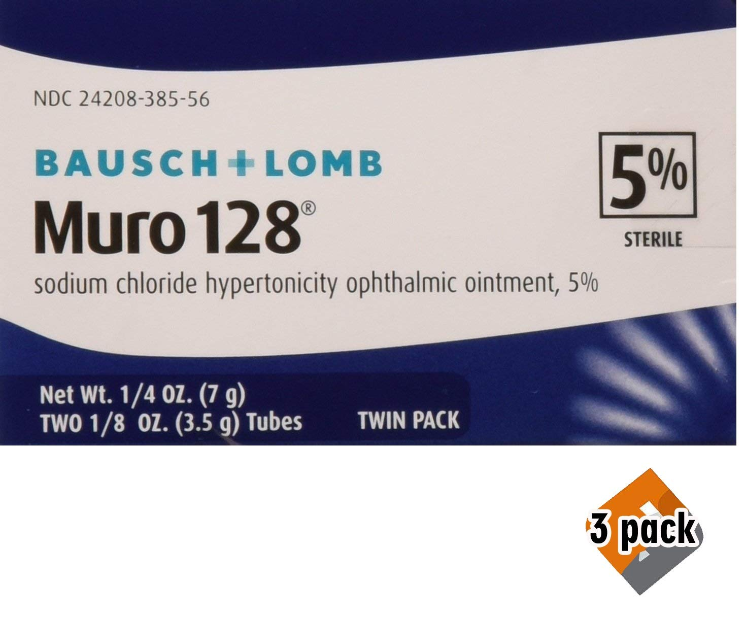 Muro 128 5 Percent 0.0 Twin Pack 2X1/8 OZ, 3 Pack