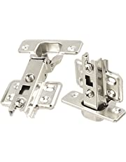 Uxcell a11112500ux0531 Stainless Steel Cabinet Door Hinge Concealed Inset Manual Close (Pack of 2)