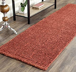 "Safavieh Natural Fiber Collection NF447C Hand Woven Rust Jute Area Rug (2'6"" x 4') (B00E2ONI1I) 