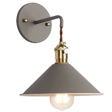 Superbe IYoee Wall Sconce Lamps Lighting Fixture With On Off Switch,Gray Macaron  Wall Lamp E26