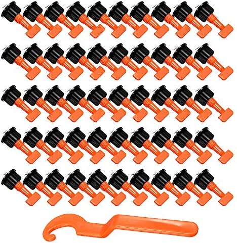 Powanfity 50個 タイルスペーサー レベリングシステム 水平調整システム 特殊レンチ付き 再利用可能 スペーサー フロアレベルタイル レベリング スペーサーセット システム構造 壁&床用 耐久性 耐磨耗性 使いやすい