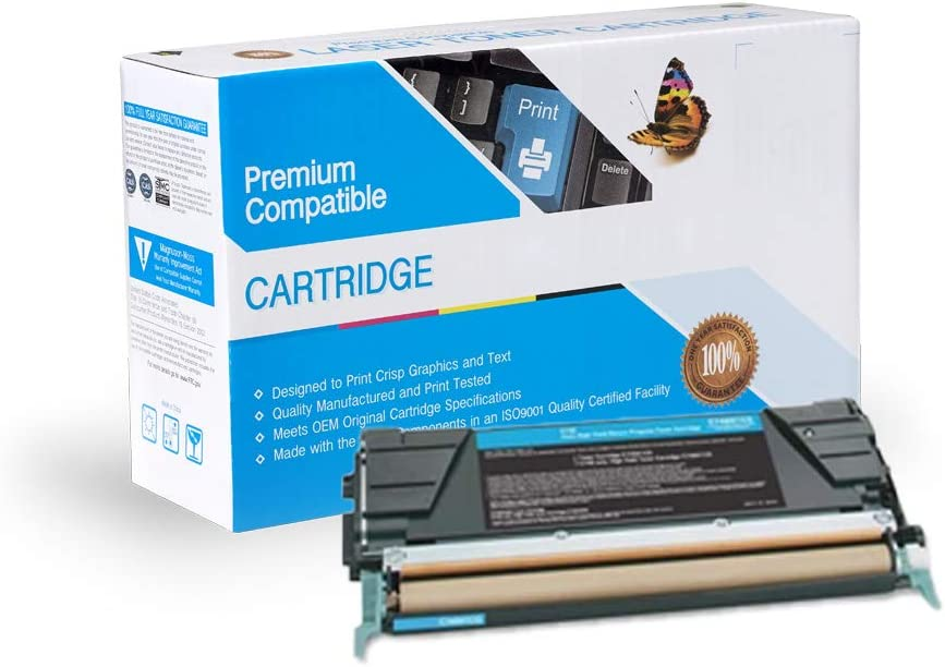 C748DTE Cyan X748DE On-Site Laser Compatible Toner Replacement for Lexmark C748H1CG Works with: C746DN C746N C746DTN C748DE C748E X746DE X748DTE X746A1CG