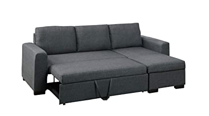 Amazon.com: Major-Q 70f6931 Blue Grey Pull-Out Sleeper Sectional ...