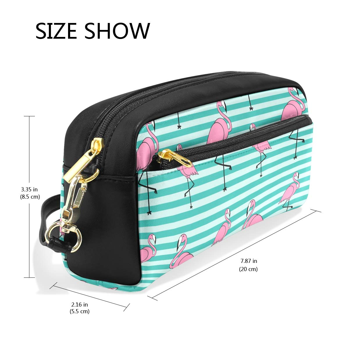 Federmäppchen mit großer Kapazität, gestreift, Flamingo-Muster, Stiftebeutel mit Reißverschluss B07Q3VF3N1 B07Q3VF3N1 B07Q3VF3N1 | Exquisite (mittlere) Verarbeitung  356e3f