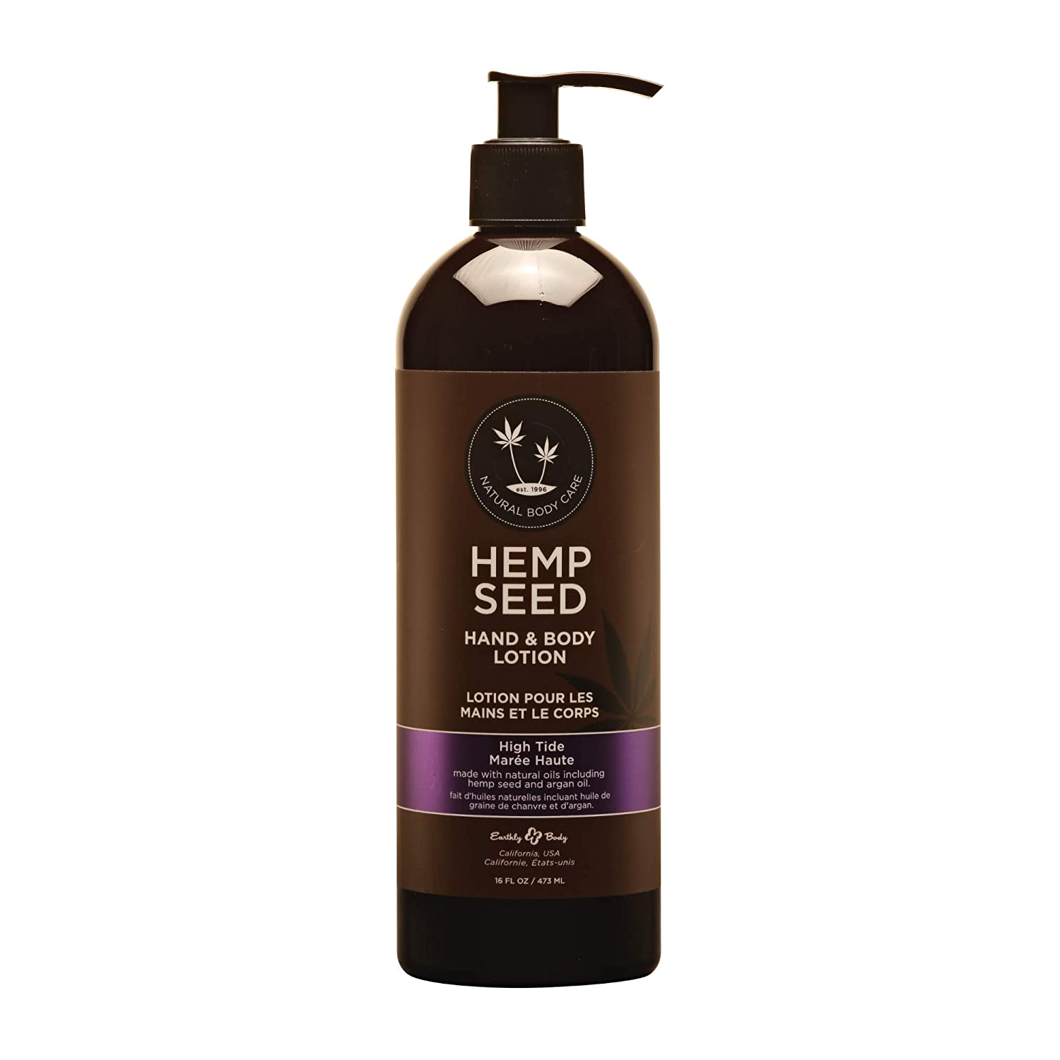 Hemp Seed Hand & Body Lotion, High Tide Scent - 16 oz. - Soothe Dry Skin - Argan Oil, Hemp Seed Oil - Light, Non-Greasy Formula - Vegan & Cruelty Free