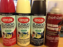 krylon k02421001 fusion for plastic spray paint satin. Black Bedroom Furniture Sets. Home Design Ideas