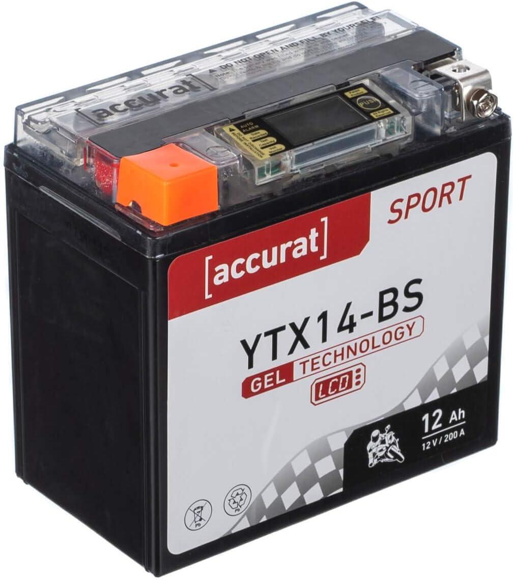 Accurat Gel Lcd Motorcycle Batteries Auto