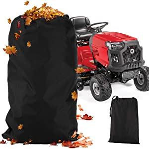 Lawn Tractor Leaf Bag 54 Cubic Foot 120-inch Opening Heavy Duty Material Reusable Leaf Waste Bag Easy Collection for Mower Garden Lawn Pool