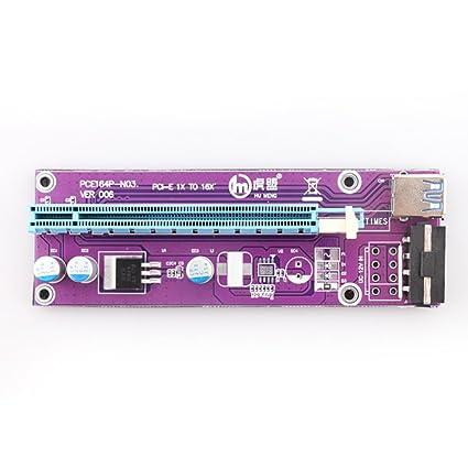 006 PCI Express PCI-E 1 X a 16 X Riser Tarjeta Adaptador ...