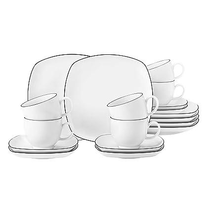 Seltmann Weiden Lido Vajilla, 0.22 litros, Porcelana: Amazon ...