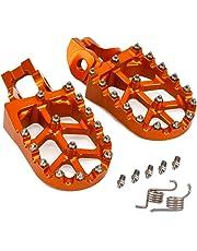 Moto CNC MX Pieds Pegs Repose-Pieds Pédales pour KTM 85 125 150 250 300 350 450 530 SX-F EXC EXC-F XC-F XC-W (Orange)