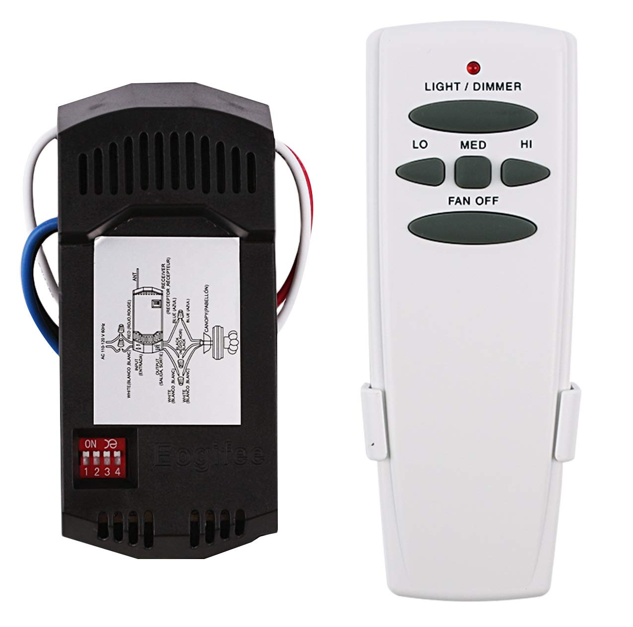 Eogifee Universal Ceiling Fan Remote Control And Receiver Kit Replacement Of Ebay