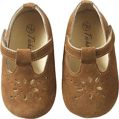 Tichoups chaussures bébé cuir souple salomé noisette