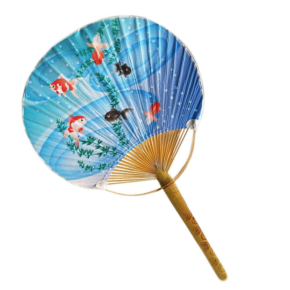 Japanese Style Beautiful Hand Held Fan Wood Handle Hand Fan, No.10