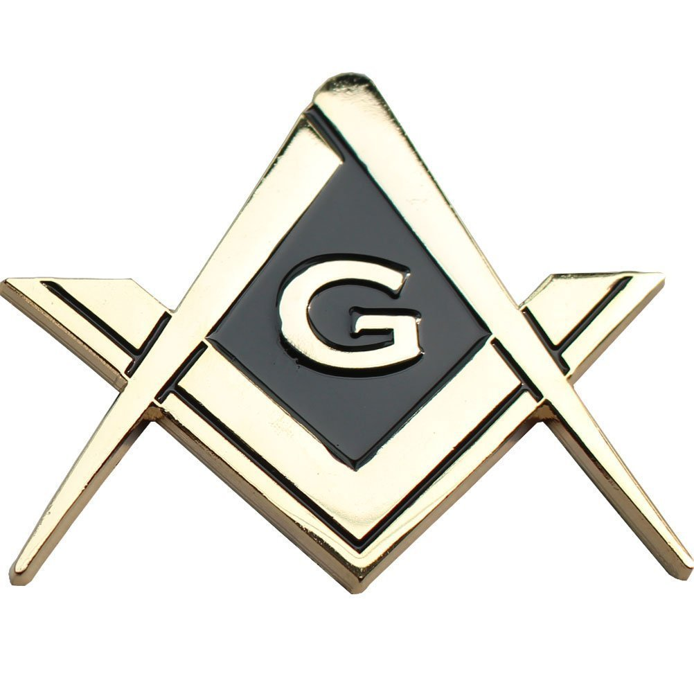 2.75 Mason Square and Compasses Chrome Plated Premium Auto Car Truck Motorcycle Emblem Equinox Masonic Regalia AECH-EW0912