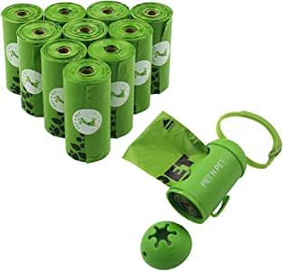 Pet N Pet Dog Poop Bags Earth-Friendly 180 Counts 10 Rolls Doggie Waste Bags Green Carrier Bags with Dispenser …