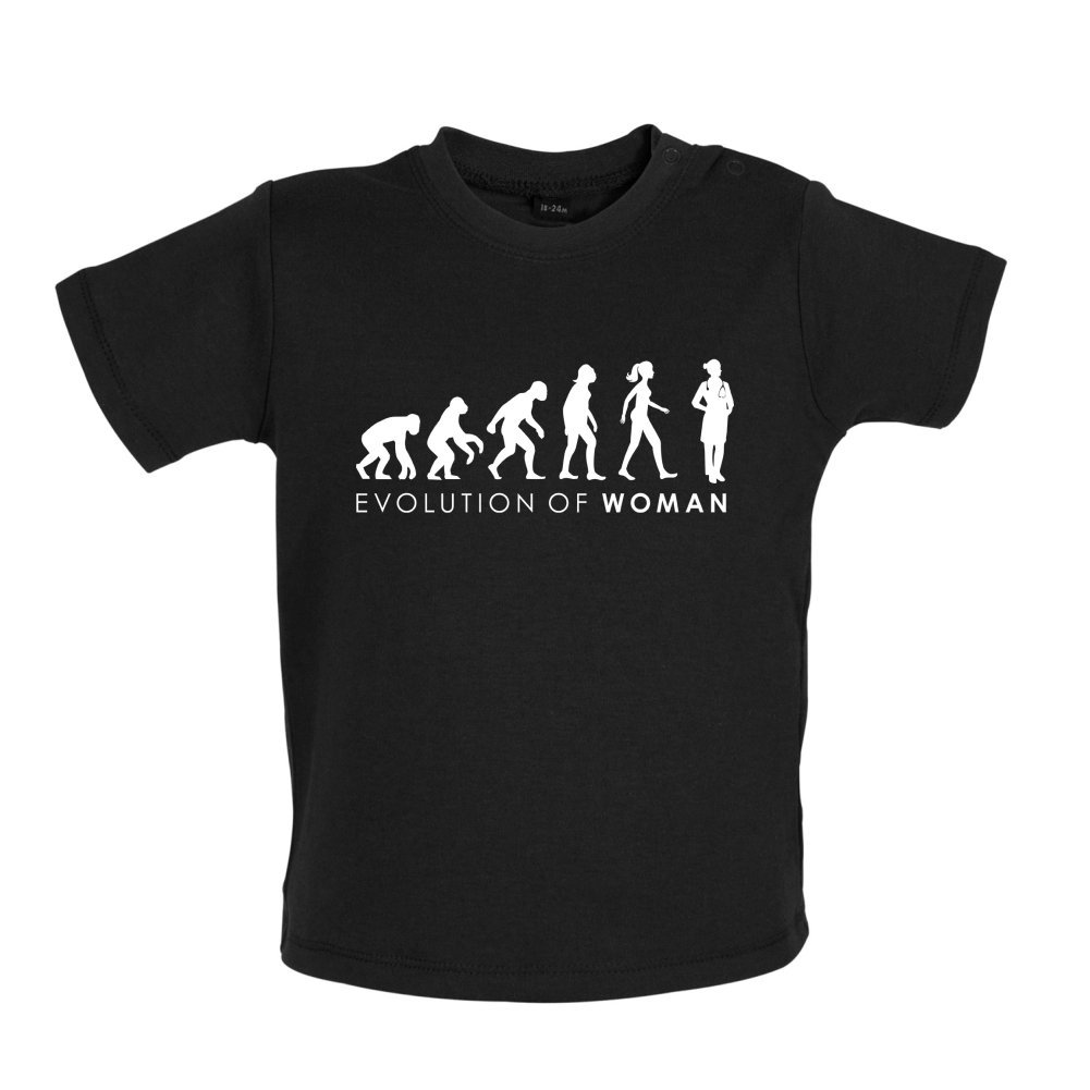 Dressdown Evolution of Woman Baby T-Shirt 3-24 Months Doctor 8 Colours