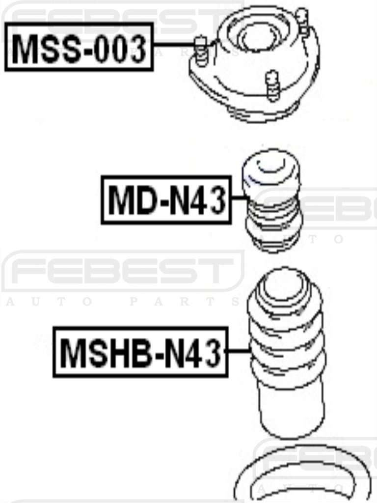 FEBEST MSS-003 Front Shock Absorber Support