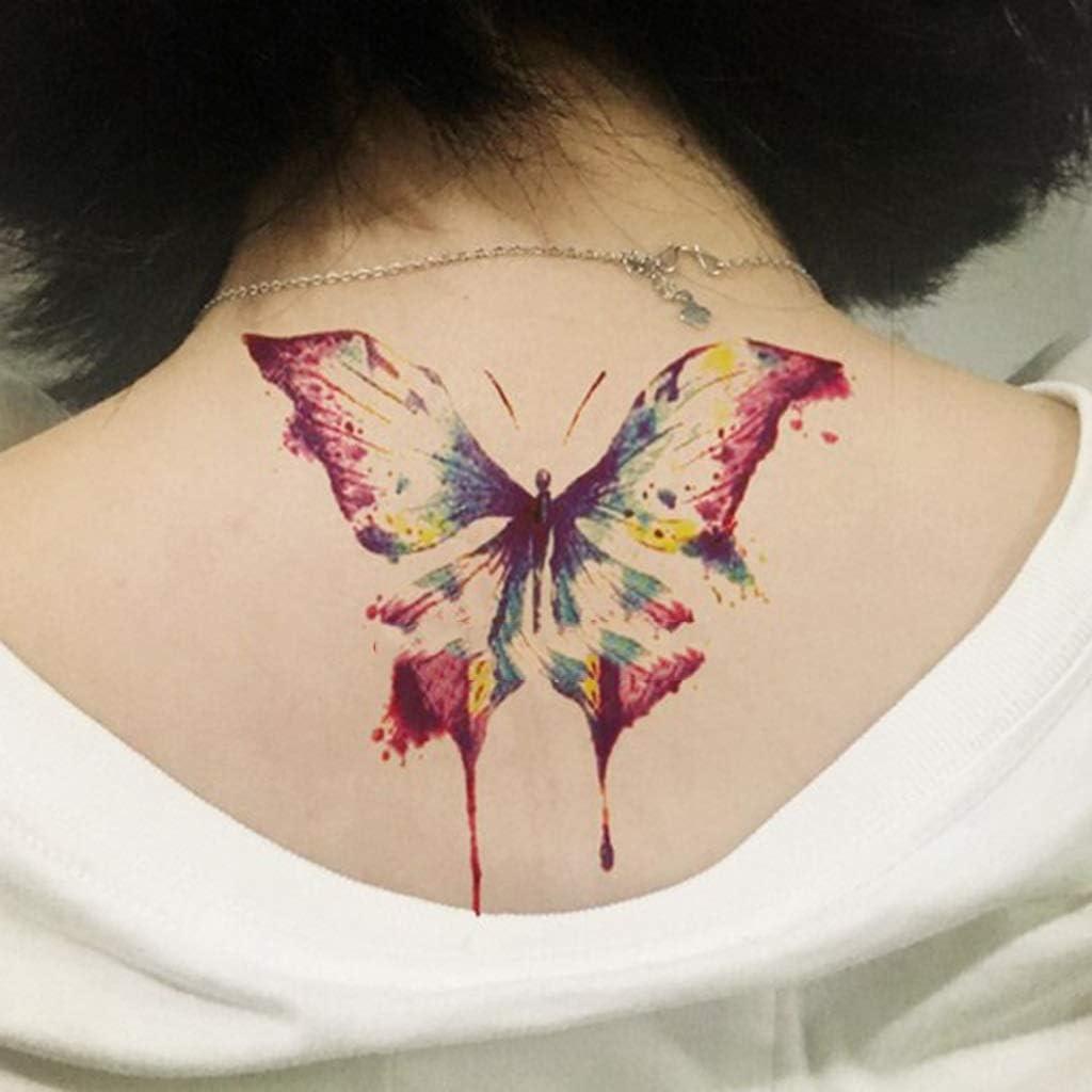 YSYYSH Hombro De La Mariposa del Tatuaje Pegatinas Cuello Femenino ...