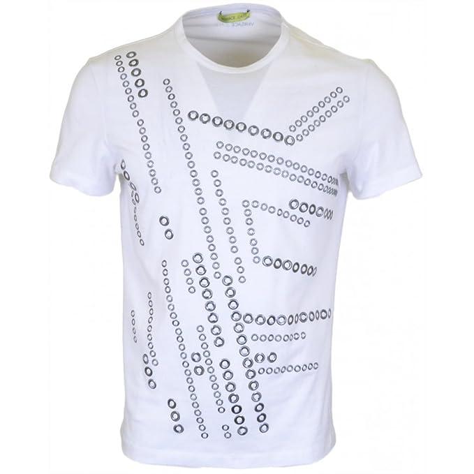 Versace Camiseta - Para Hombre Blanco Blanco 52: Amazon.es: Ropa y accesorios