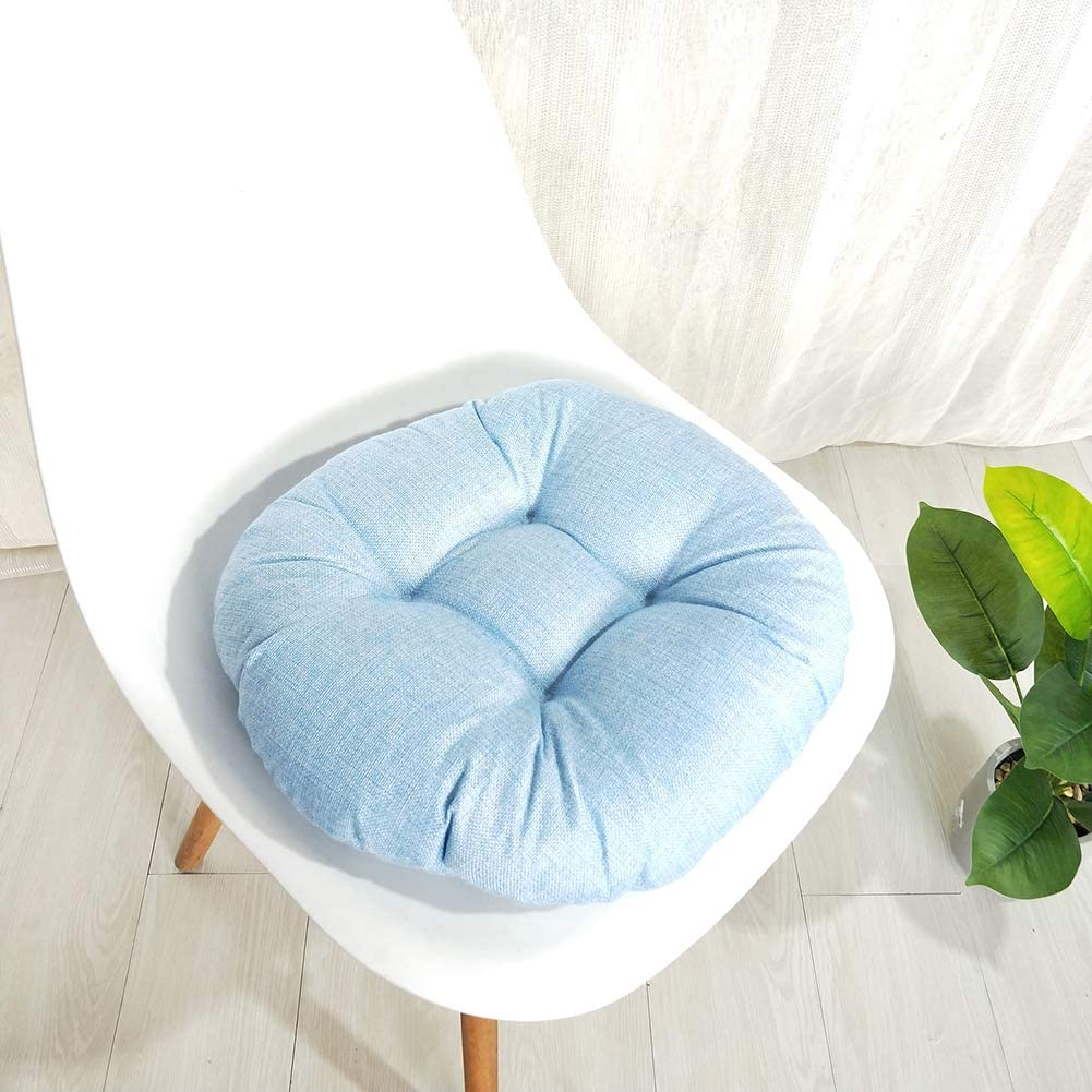MEIFXIH Soft Round Chair Pad,Cotton Garden Patio Home Kitchen Office Seat Cushion