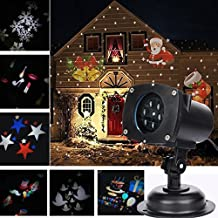 TD Design 12 Switchable Themes Landscape Projector Star Light, Waterproof LED Spotlight Wall Light for Outdoor Indoor and Lawn, Holiday Decoration, Christmas Halloween Light, Star Projector