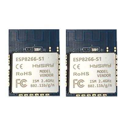 ESP8266 WiFi Module, Luabby Smart Low Cost Low Power Wireless IoT Module,  Pack of 2 PCS,ESP8266-S1
