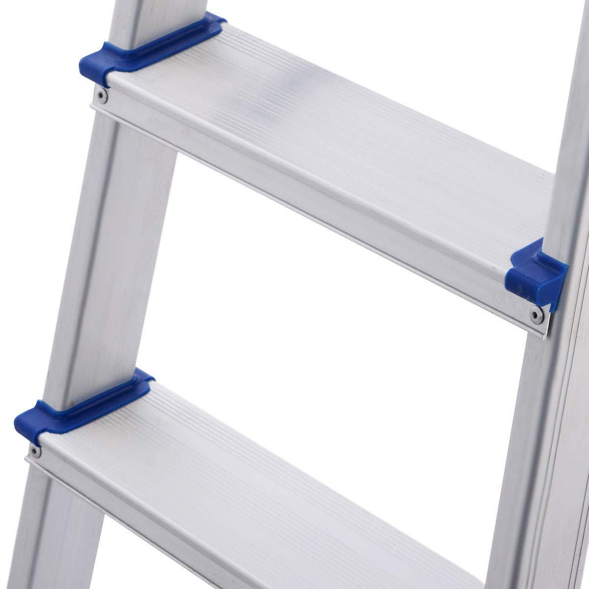 Foldable 5 Step Ladder Non-slip 330 lbs Capacity Platform Aluminum New
