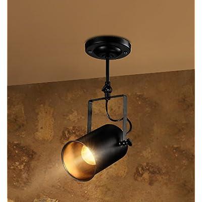 American style retro éclairage LED éolienne industrielle bar long bar de personnalité créatrice de vêtements est évidente, de rails au plafond