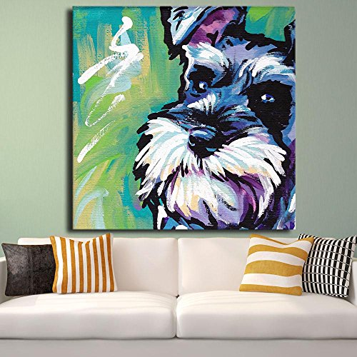 Fallout Cuadros Decoracion Hot Sell Schnauzer Dog Pop Art Wall Painting For Home Decor Idea Print On Canvas d Picture!