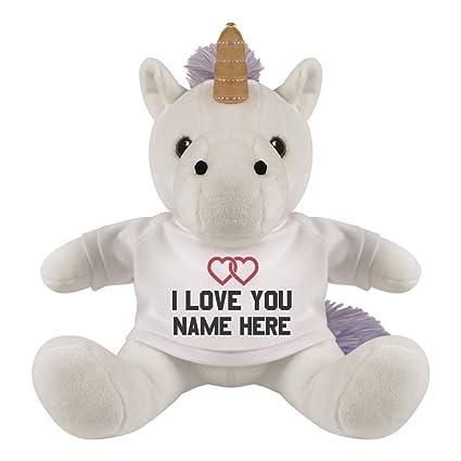 Amazon Com Custom Love You Unicorn 8 Inch Unicorn Stuffed Animal