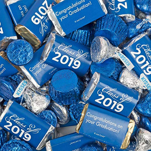 Graduation Party Supplies 2019 Blue Graduation Hershey's Mix 3lb (Free Cold Packaging) - Class of 2019 Candy