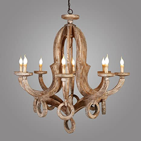 Lovedima audrey cottage style distressed wood 8 light pendant lovedima audrey cottage style distressed wood 8 light pendant candelabra chandelier ceiling lighting aloadofball Image collections