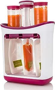 Estación de exprimido Hecho en casa Infantil Bebé Jugo de fruta fresca Fabricante de alimentos con bolsas de almacenamiento 8.26
