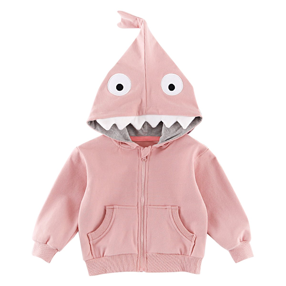 Kanodan Baby Boys Shark Outerwear Jacket Toddler Hooded Autumn Sweatshirt 1-4Years
