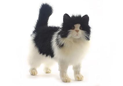 Hansa Cat Plush, Black/White