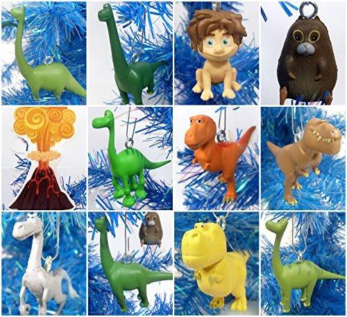 (Good Dinosaur 12 Piece Christmas Tree Ornament Set Featuring Spot, Arlo and Friends - Around 2