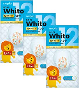 Nepia Whito Pants L44 12H, L, 132 count (Pack of 3)