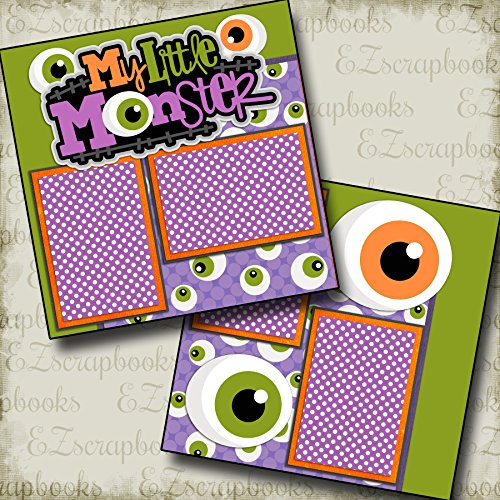MY LITTLE MONSTER - Premade Scrapbook Pages - EZ Layout 2152 for $<!--$4.99-->