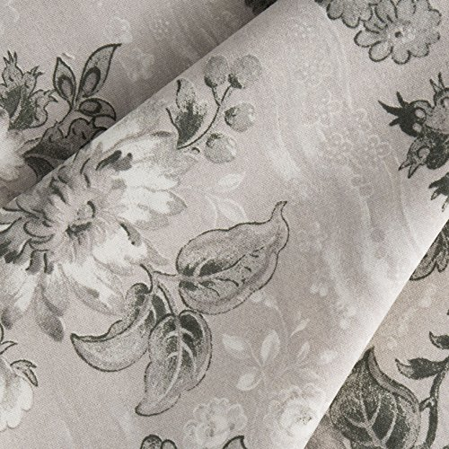 (Connecting Threads 104 Inch Wide Backing Cotton Fabric 3 Yard Cut (Elegant Floral - Lt Stone))