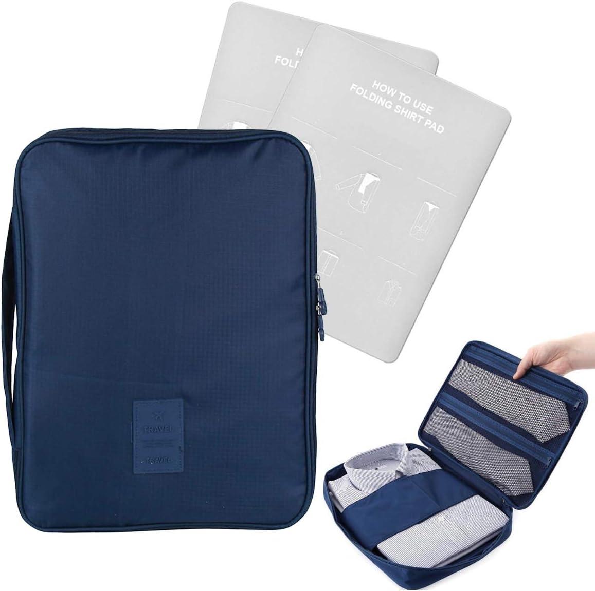 EQLEF Wrinkle-proof camisa y corbata de almacenamiento organizador portátil camisa con mango para viajes Pack viajes de empresa