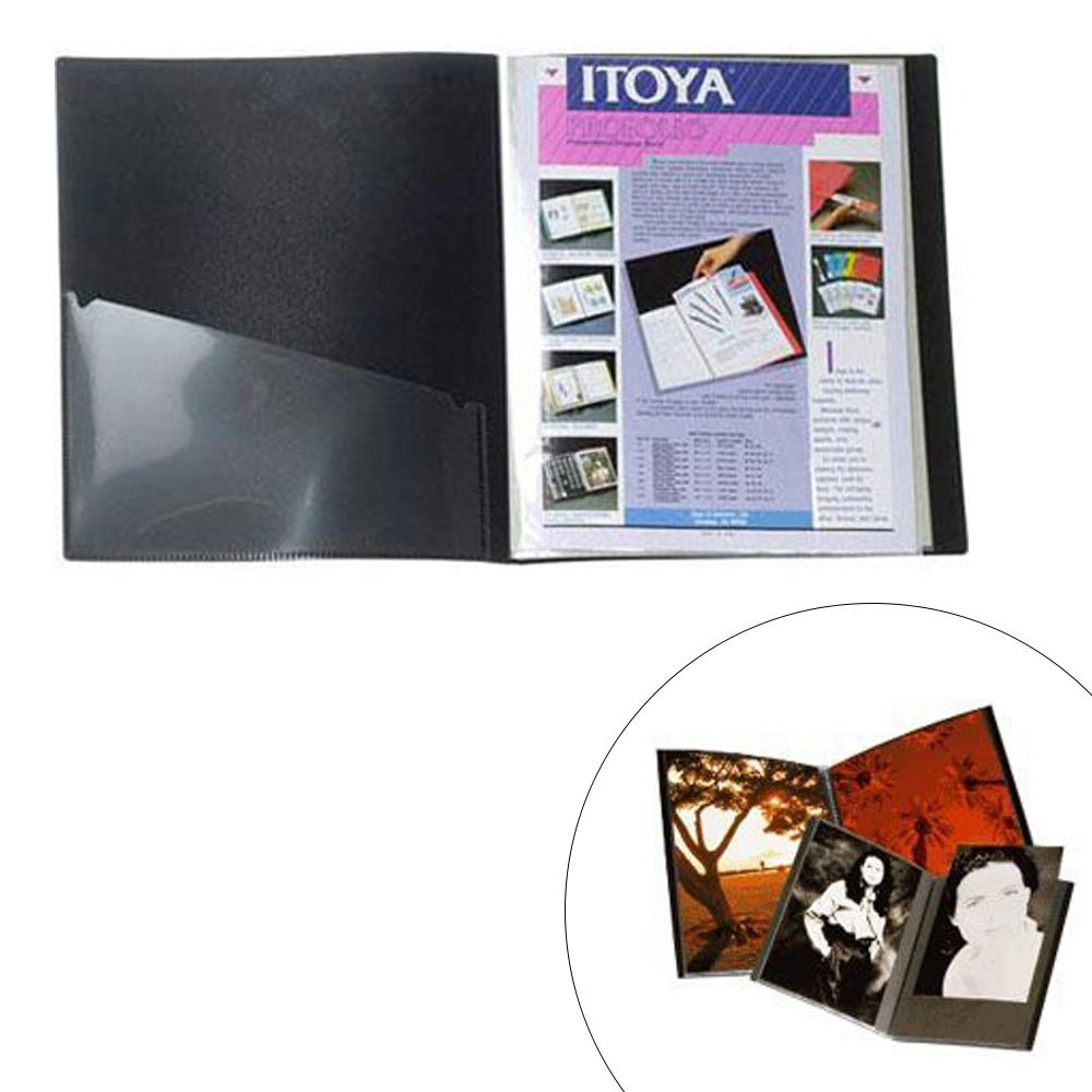 ITOYA 18 inch x 24 inch Original Art Profolio Presentation Book/Portfolio- for Art, Photography, and Documents - Pack of 3 + Scrapbooking Stickers 4 Pages of Emojis, Quotes, Letters & Numbers by ITOYA (Image #2)