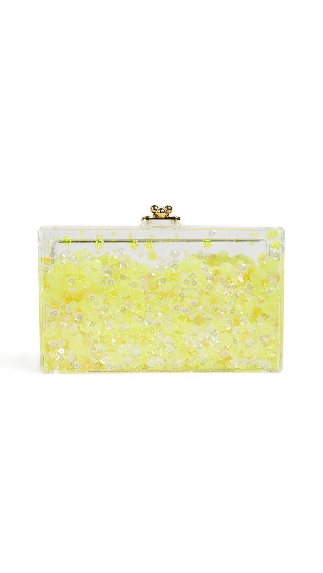 ashlyn'd Women's Glimmer Clutch, Neon Yellow, One Size